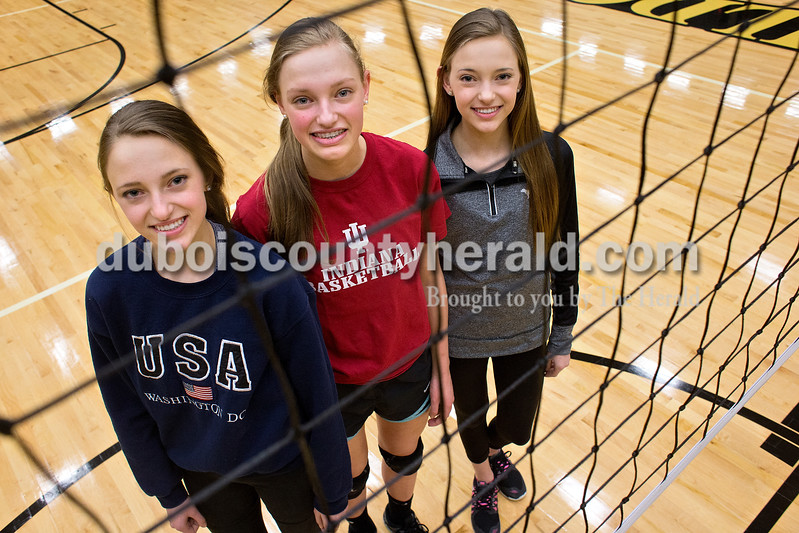 Libby, left, Avery and Katey Bell.