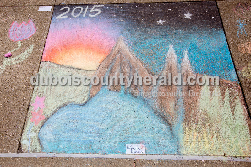 Ariana van den Akker/The Herald<br /> A drawing by Wanda Chellsey at the 12th annual Chalk Walk Arts festival in downtown Jasper on Saturday.