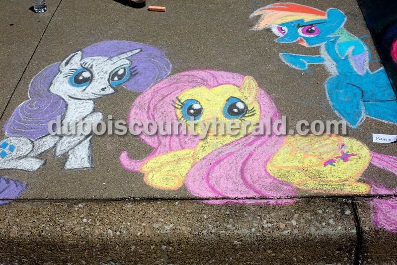 Ariana van den Akker/The Herald<br /> A drawing at the 12th annual Chalk Walk Arts festival in downtown Jasper on Saturday.