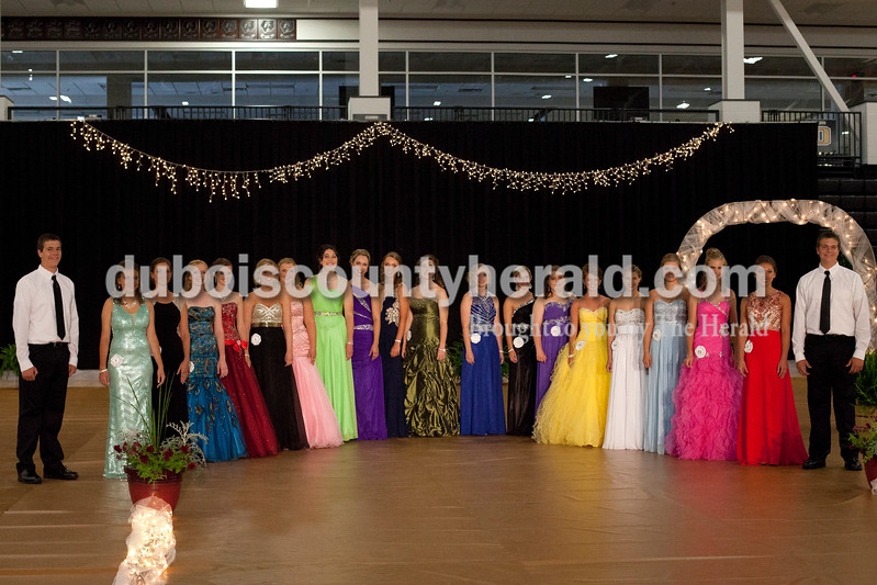 Erica Lafser/The Herald<br /> The 2015 Dubois County 4-H Fair Queen Contest happened on Sunday in the gym at Jasper High School, with 14 women competing for the crown. Moriah Fleck of St. Anthony, 18, was announced 2015 Miss Dubois County and won Miss Photogenic.
