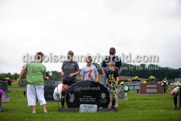On Memorial Day, Dakota visited his grandparents' graves in Haysville and Crystal with his parents, Travis and Tara, his brother, 8-year-old brother Devon and his grandmother Delphia Sendelweck. Dakota began visiting Northwood in 2008 when his grandfather, John Sendelweck, was a resident and has returned as a helper since John died in 2011.