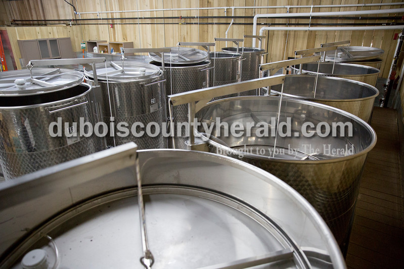 Wine vats at Patoka Lake Winery in Birdseye on Tuesday.