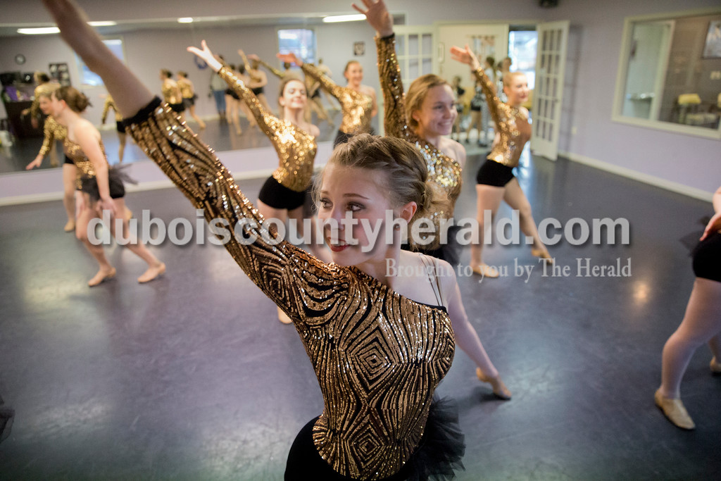 Sarah Ann Jump/The Herald<br /> Chloe Herzog of Jasper, 15, performed during Sunday's practice at Dance Central Academy of Performing Arts in Jasper.