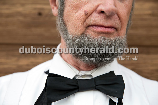 """Gerald Pitts of Greenwood, SC wore an artificial mole made from a pencil eraser to complete his Abraham Lincoln persona. """"It saved my life,"""" said Pitts, explaining that he was diagnosed with a malignant melanoma in situ on his cheek that he might not have noticed if he didn't regularly apply his pencil eraser mole."""