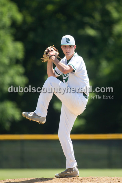 Forest Park's Ben Wendholt pitched during Monday's Class 2A sectional championship in Tell City. The Forest Park Rangers lost to the South Spencer Rebels 5-0. Sarah Ann Jump/The Herald