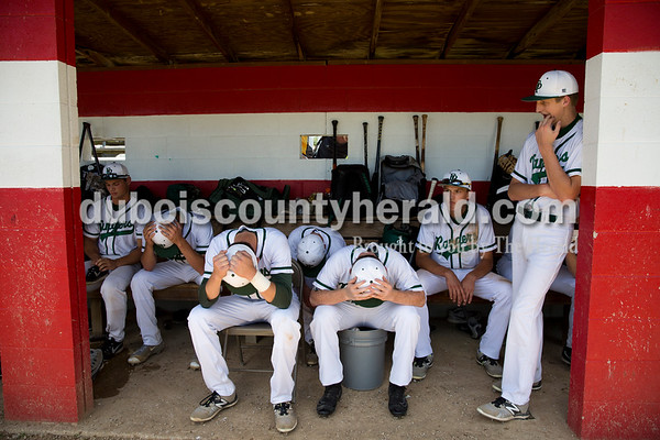 The Forest Park baseball team sat in the dugout after Monday's Class 2A sectional championship in Tell City. The Forest Park Rangers lost to the South Spencer Rebels 5-0. Sarah Ann Jump/The Herald