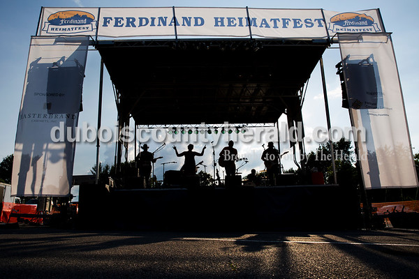 Southern Country, an Indianapolis-based cover band, performed during Ferdinand Heimatfest at 18th Street Park on Saturday. Sarah Ann Jump/The Herald