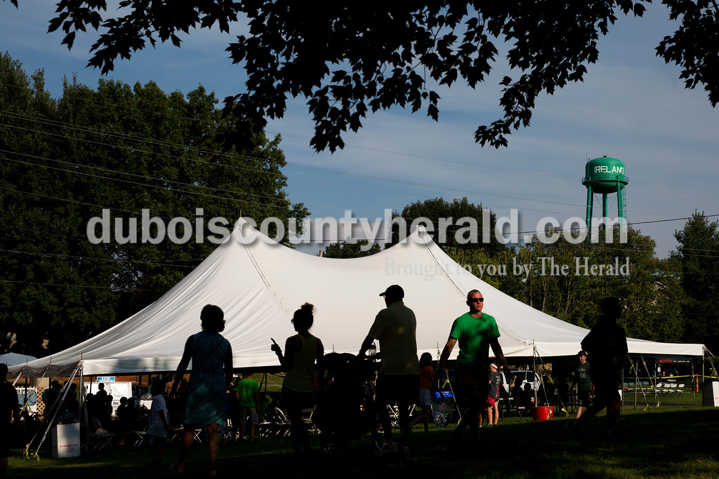Several large tents were erected around Ireland to provided shade and seating during the Ireland Bicentennial celebration on Saturday. Sarah Ann Jump/The Herald