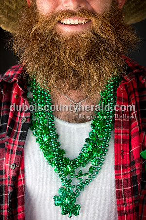 Matt Fleck of Jasper participated in the beard contest during the Ireland Bicentennial celebration on Sunday. He started growing his beard out one year ago specifically for the contest. Sarah Ann Jump/The Herald