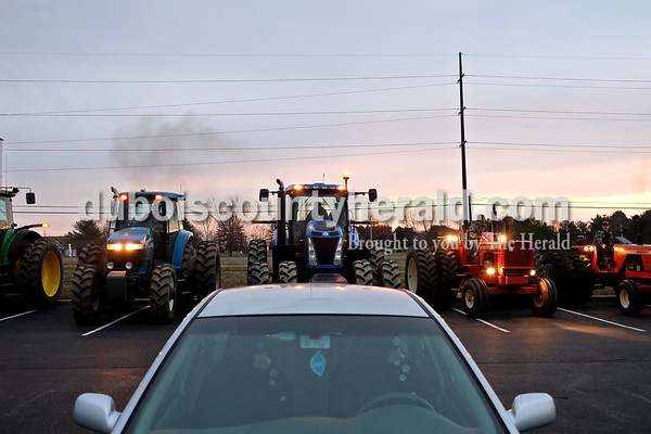 Twelve tractors were driven to school by Southridge students Tuesday morning during Drive Your Tractor To School Day. Dave Weatherwax/The Herald