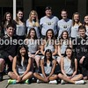 Members of the Jasper High School tennis team are, from left, first row: Taylor Marshall, Suchitraa Bandaru and Emma Reutepohler. Second row: student manager Eli Franks, Mallory Ahlbrand, Jillian Seger, Kathleen Messmer and student manager Noah Mendel. Third row: Aubrey Williams, Hadley Meyer, Sarah Monesmith, Olivia Yarbrough, coach Rogers, coach Yarbrough, coach Elrod, Caroline Theil, Maggie Getzin, Adeline Bueltel and Mackenzie Cooley.