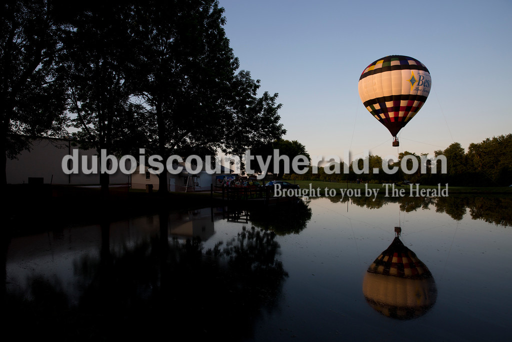 Tethered hot air ballon rides were offered during the Sisters' Summer Social at Monastery Immaculate Conception in Ferdinand on Friday. Sarah Ann Jump/The Herald