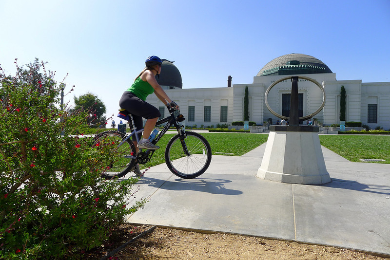 Griffith Park Bike Ride - At the Observatory