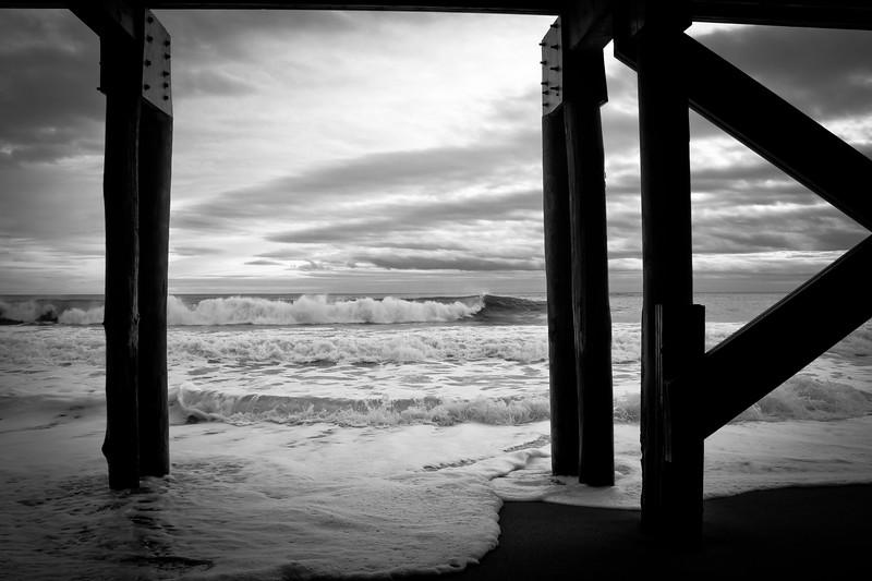 The waves rolling in on Salisbury Beach, MA