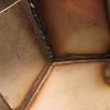 The inside of my corner welding practice.