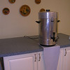 The object below the coffee urn is a drip catcher to keep drips of coffee off the floor.<br /> I made 4 of these from 3mm Aluminum, as a gift to the Normanna Ladies Auxilary. <br /> 3 bends and 2 welds.