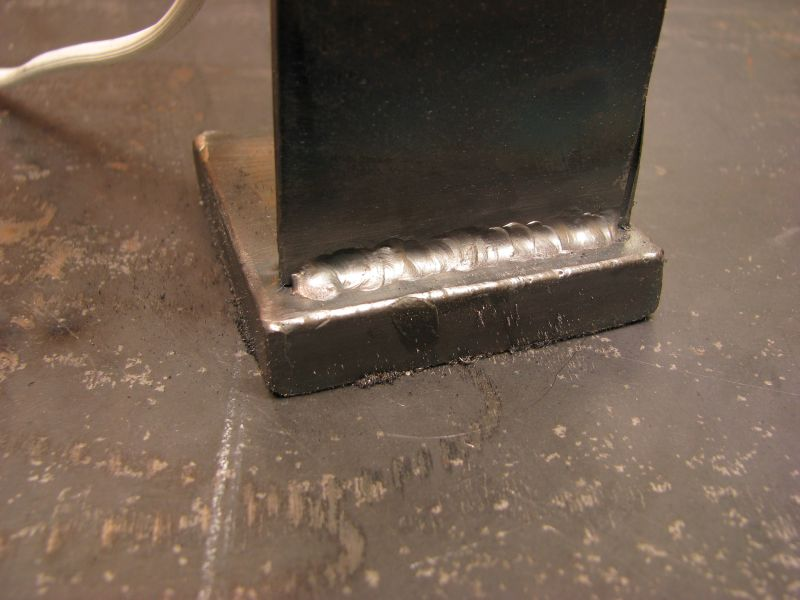 I'm not unhappy with these welds, considering how thin the base material is, and how thick the upright.