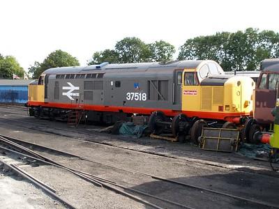 Class 37 37518 seen at Nene Valley Railway   27/09/09