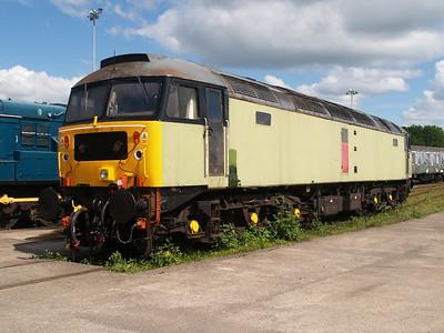 Class 47_47768 ex RES seen at Barry Railway under going a repaint    28/05/07