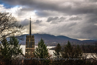 Chapel Tower and Hudson River-West Point, NY