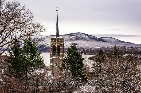 Church Tower & Trees-U.S.M.A. at West Point, NY