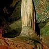 Bridal Veil Stalagmite - Lost World Cavern outside Lewisville