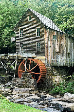 Glade Creek Grist Mill Babcock State Park, WV