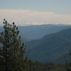 Looking from Foresthill (~mile 60) back towards the Sierra Nevada mountains.