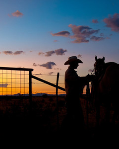 """Cowboy Silhouette"" was honored with 3rd place - People Category- 2012 Ranch and Rural Living Magazine"