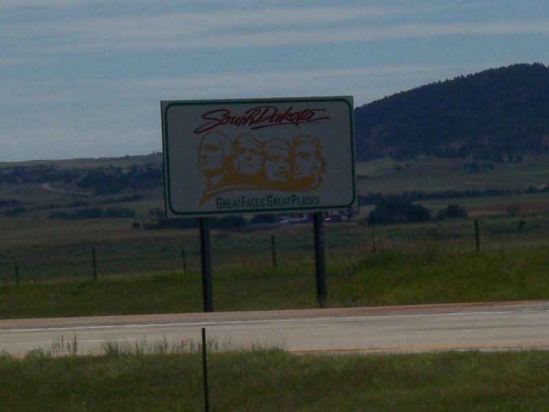 Entering South Dakota