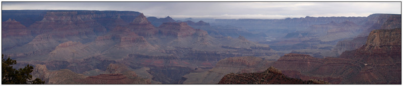 Grand Canyon from Grandview Point trail.  Got about a mile down before it was time to go.  Nothing like an icy trail on the side of a mile deep canyon -- oh, and it was snowing!<br /> <br /> Grand Canyon NP, AZ