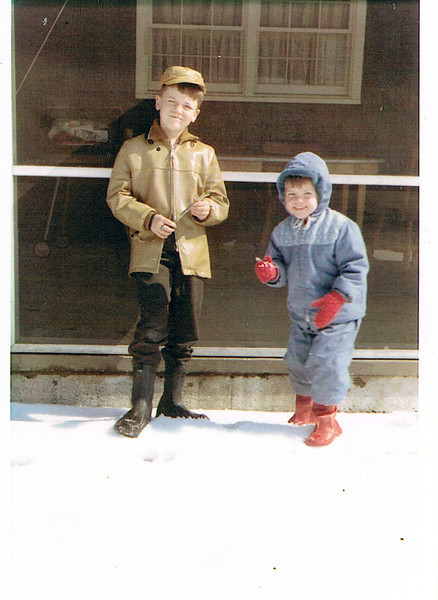 Me with Leslie, winter 1962.