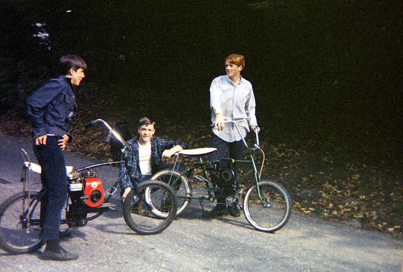 Doug Clark, me, James Glendinning, Westport, Spring 1967.