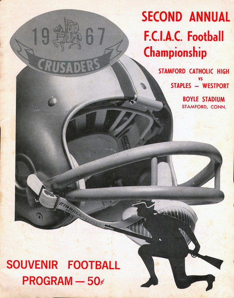 Program from FCIAC championship game, November 17, 1967.