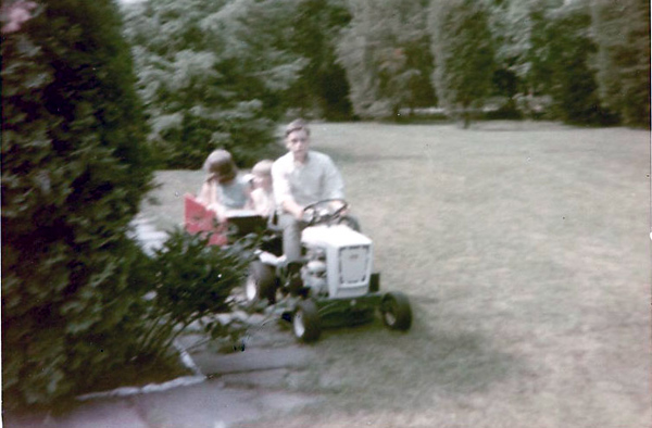 With the kids, 1967.