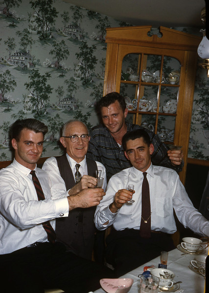 Jones boys.  Frank, my grandfather, Dad and Dave.  Around 1958.