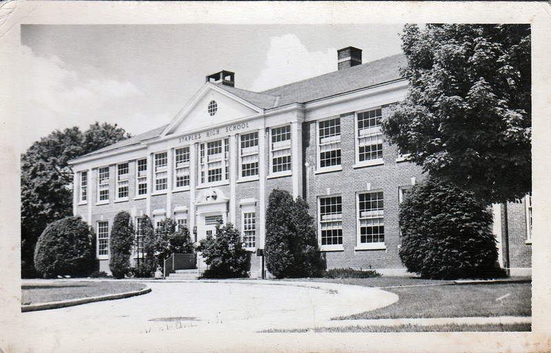 Staples in 1951 (later Bedford Junior High, which I attended 1964-65).