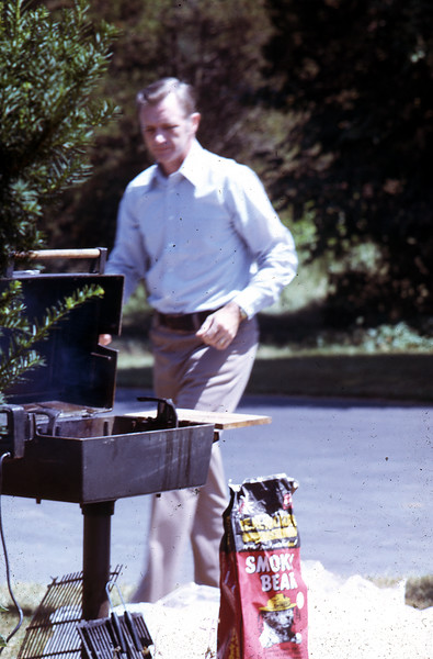 Dad at the grill, 1972.