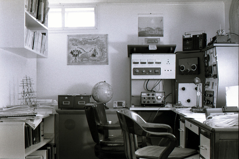 Dad's radio room, 1977.