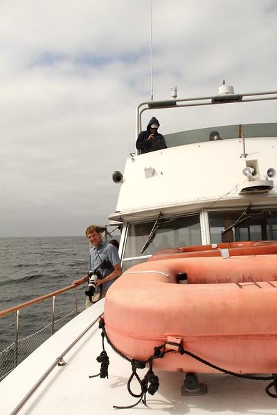 Radek on the boat.