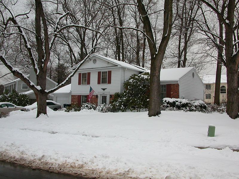 Snowy, but still home sweet home.