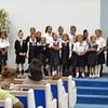 Vanessa singing in school choir.
