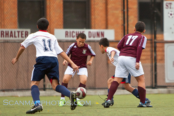 "The 7th and 8th Grade soccer team shut out this club team from Passaic.  October 31, 2009.  <a href=""/gallery/10162757_kTaAZ"">CLICK HERE</a> to see more pictures..."