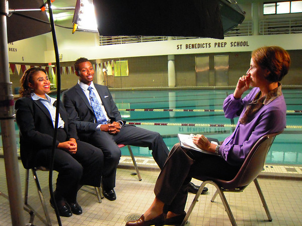 "Cullen Jones '02, Olympic Gold medalist and his mother were interviewed for an upcoming episode of HBO Real Sports on August 30.  <a href=""/gallery/9500303_th7os"">CLICK HERE</a> to see more pictures..."