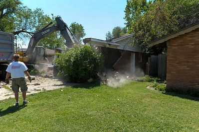 There goes the garage.