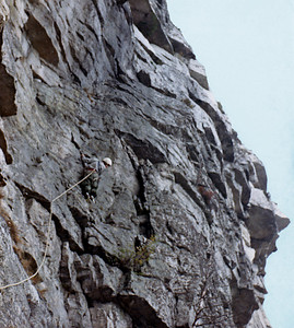 """Rockclimb_06_ I am leading the climb   """"Shockley's Ceiling"""" . Rated 5.5"""