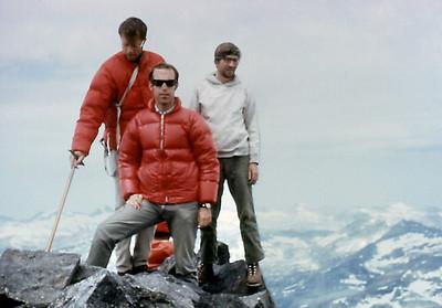 Mt Banner climb. On top.