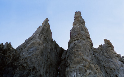Chamonixclimb_41.  The Aguille de Ravanel and ithe Aguille de Mummery. We climbed the Ravanel.