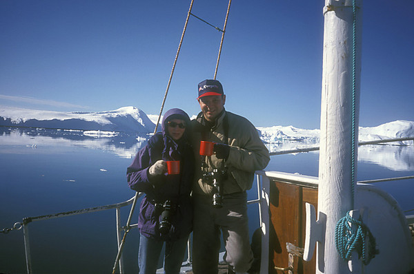 Mirja and Bill in Greenland.