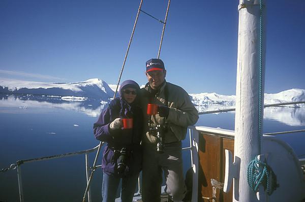Mirja and Bill in Greenland.